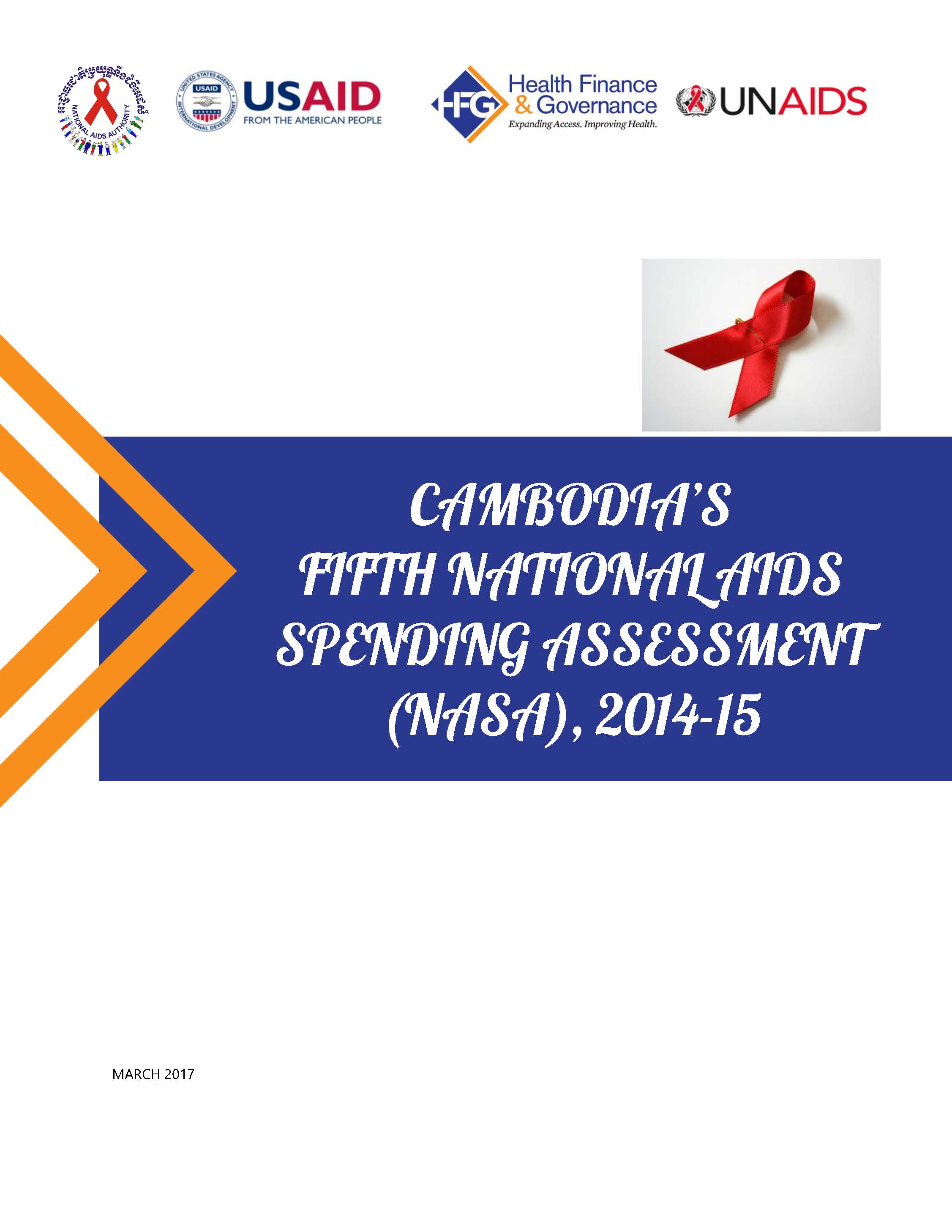 Cambodia fifth national AIDS spending assessment (NASA), 2014-2015